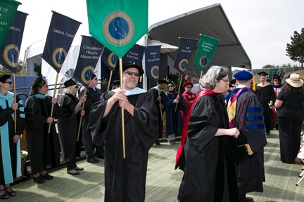 CSU Monterey Bay graduation flags